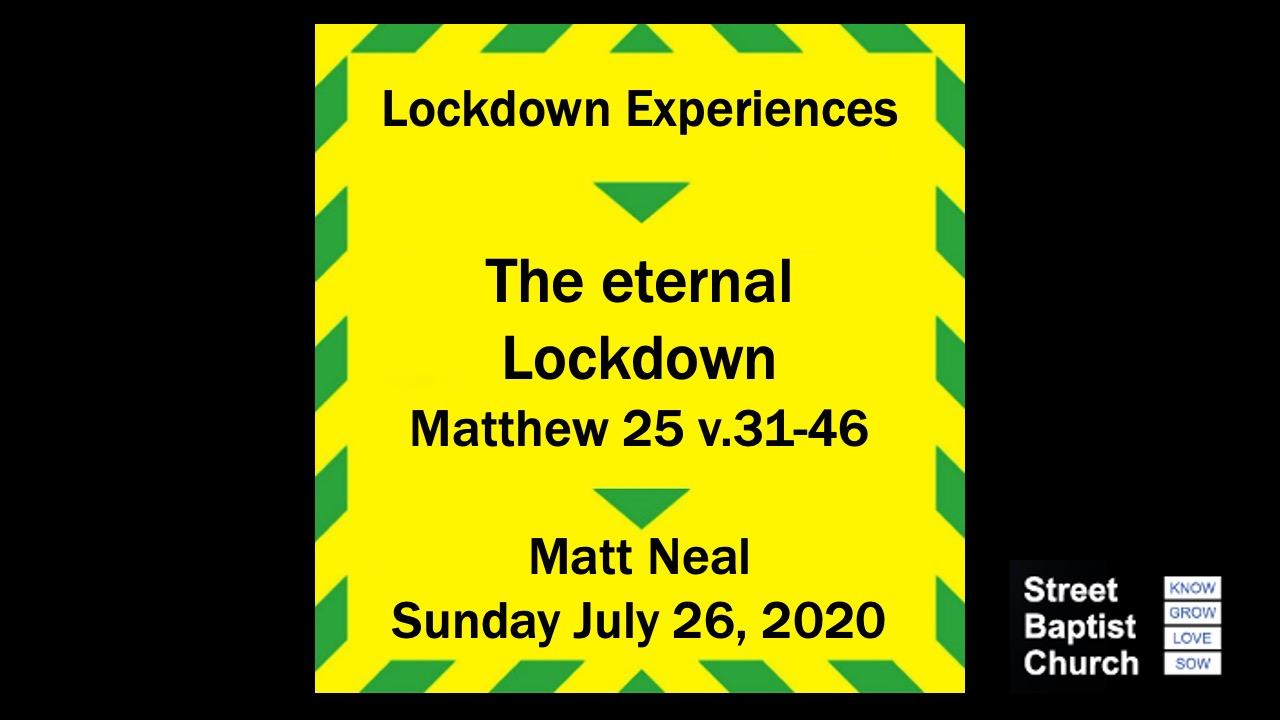 The eternal Lockdown