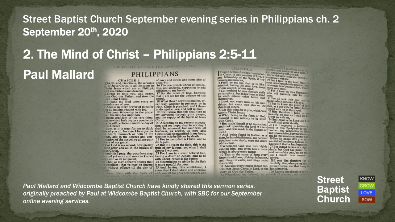 Philippians 2:5-11 - The Mind of Christ