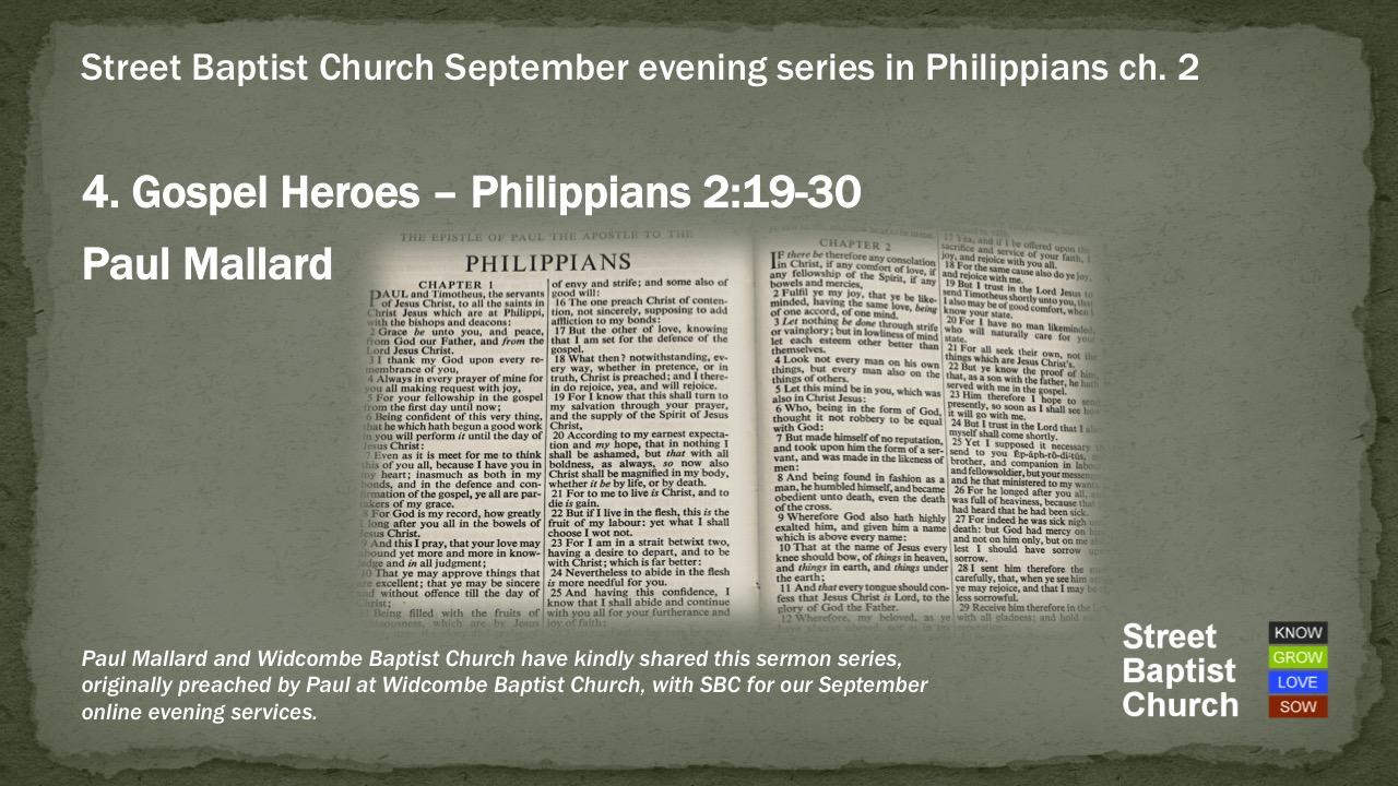 Philippians 2:19-30 - Gospel Heroes