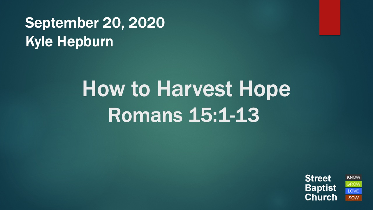 How to Harvest Hope
