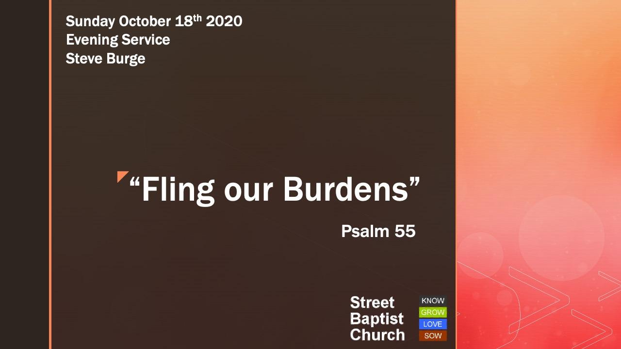 Fling our Burdens