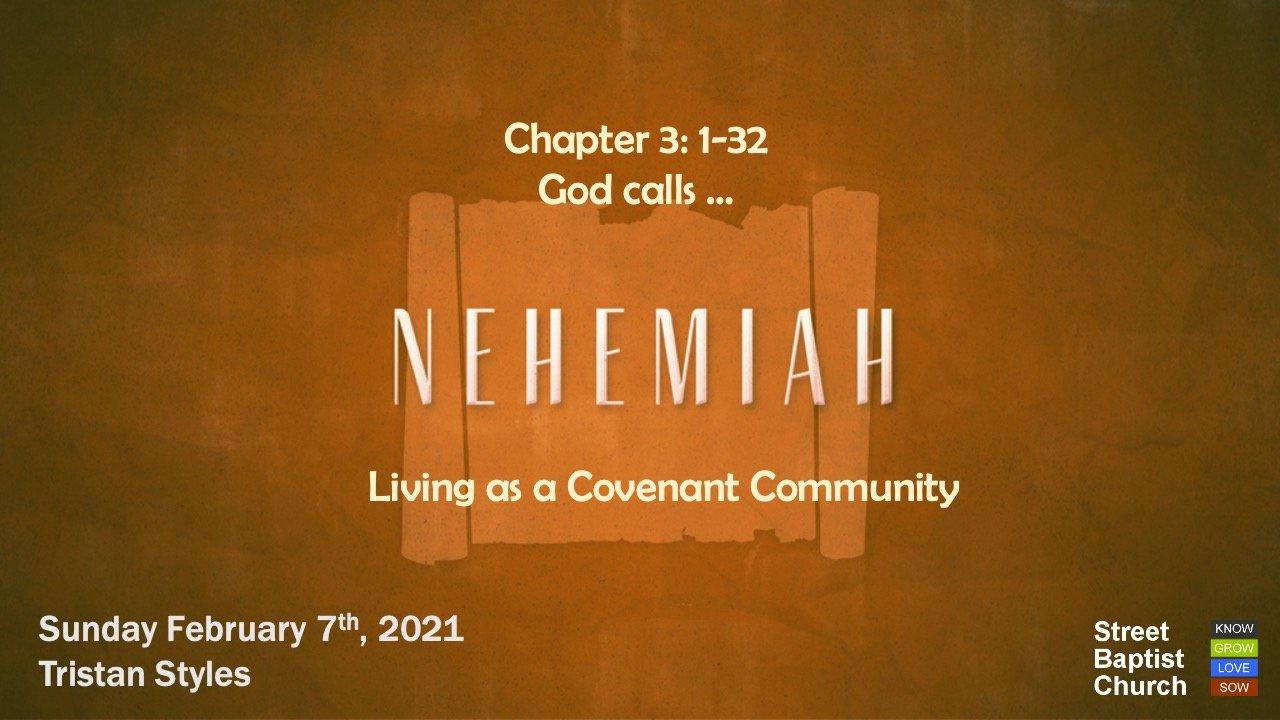 Nehemiah: God calls ...