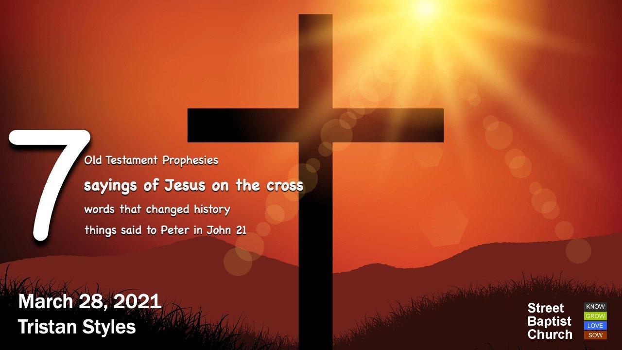 7 sayings of Jesus on the cross