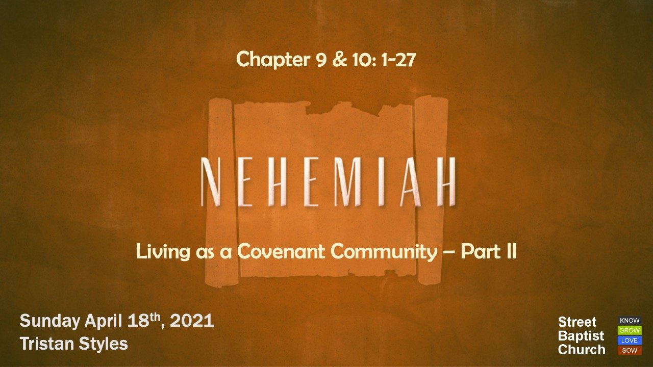 Nehemiah: confession and commitment