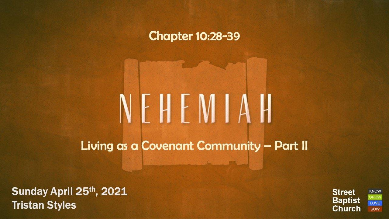 Nehemiah: commitments
