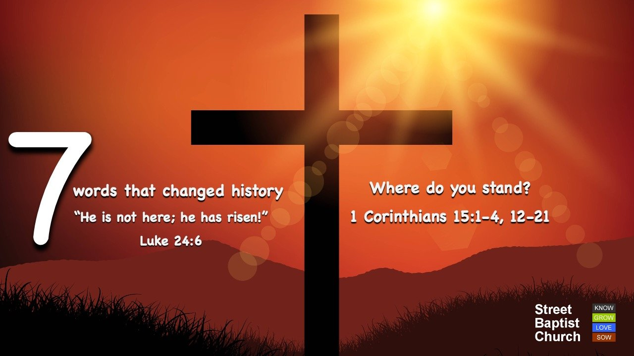 7 words that changed history (Easter Sunday)