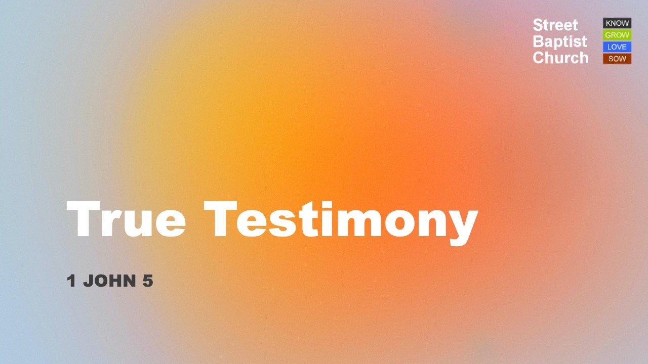 1 John 5 - True Testimony